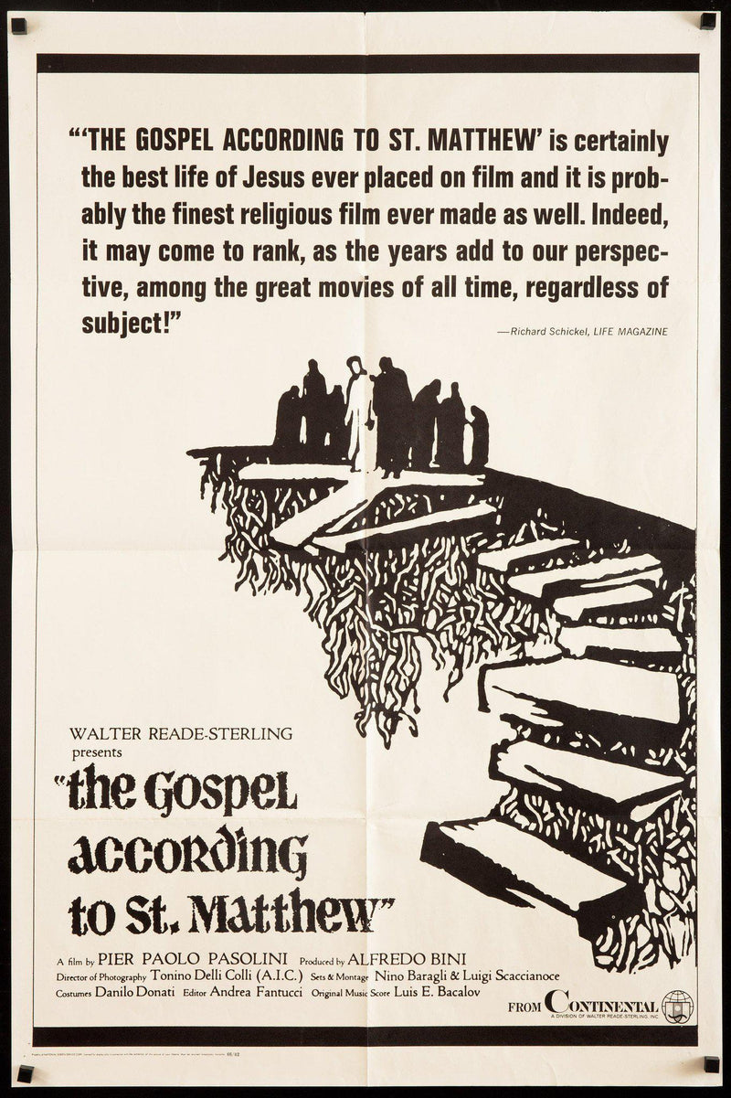 The Gospel According to St. Matthew (Il Vangelo Secondo Matteo) 1 Sheet (27x41) Original Vintage Movie Poster