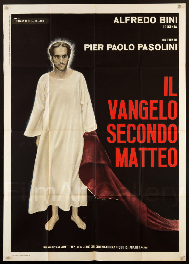 The Gospel According to St Matthew Italian 2 foglio (39x55) Original Vintage Movie Poster