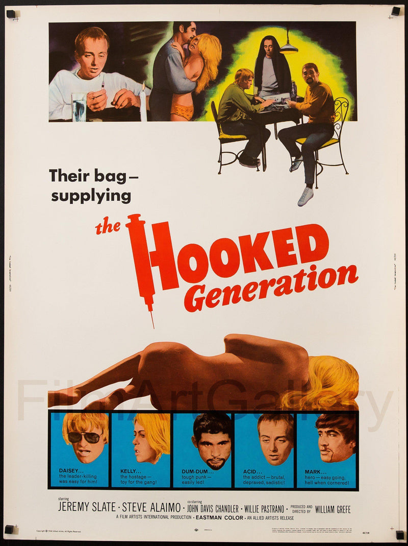 The Hooked Generation U.S. 30x40 Original Vintage Movie Poster