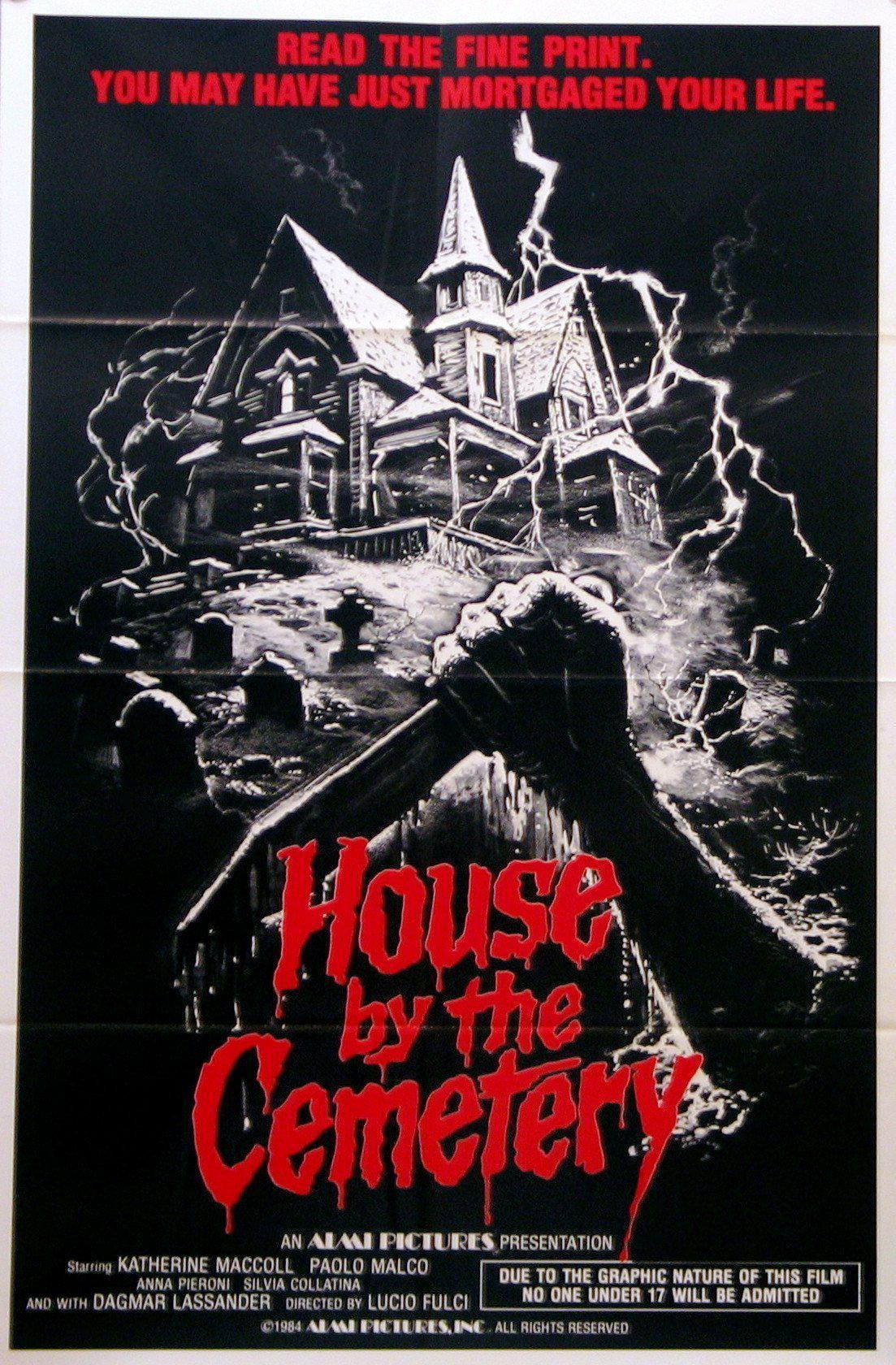 The House By the Cemetery 1 Sheet (27x41) Original Vintage Movie Poster