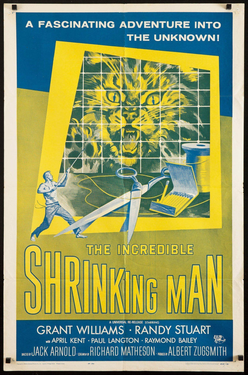 The Incredible Shrinking Man 1 Sheet (27x41) Original Vintage Movie Poster