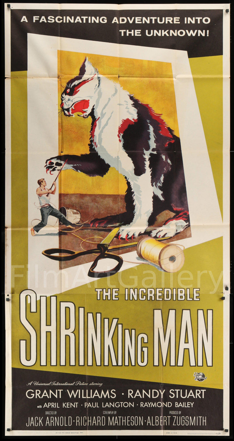 The Incredible Shrinking Man 3 Sheet (41x81) Original Vintage Movie Poster