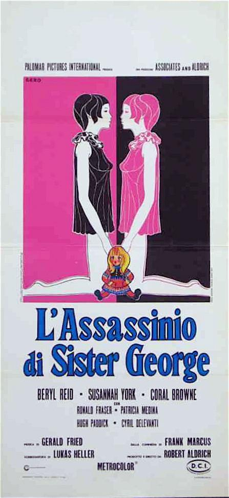 The Killing of Sister George Italian Locandina (13x28) Original Vintage Movie Poster