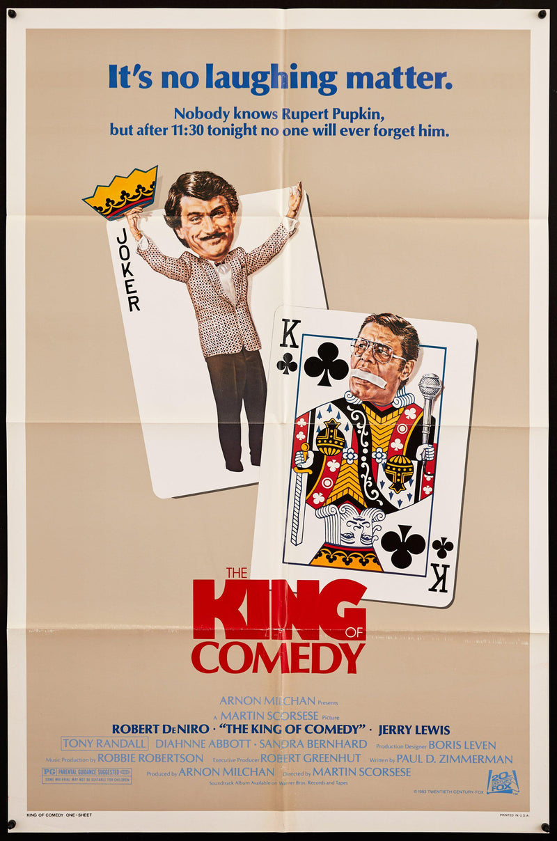 The King of Comedy 1 Sheet (27x41) Original Vintage Movie Poster