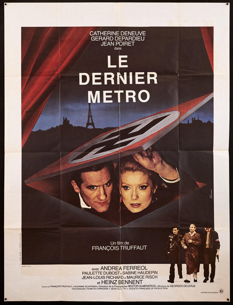 The Last Metro (Le Dernier Metro) French 1 panel (47x63) Original Vintage Movie Poster
