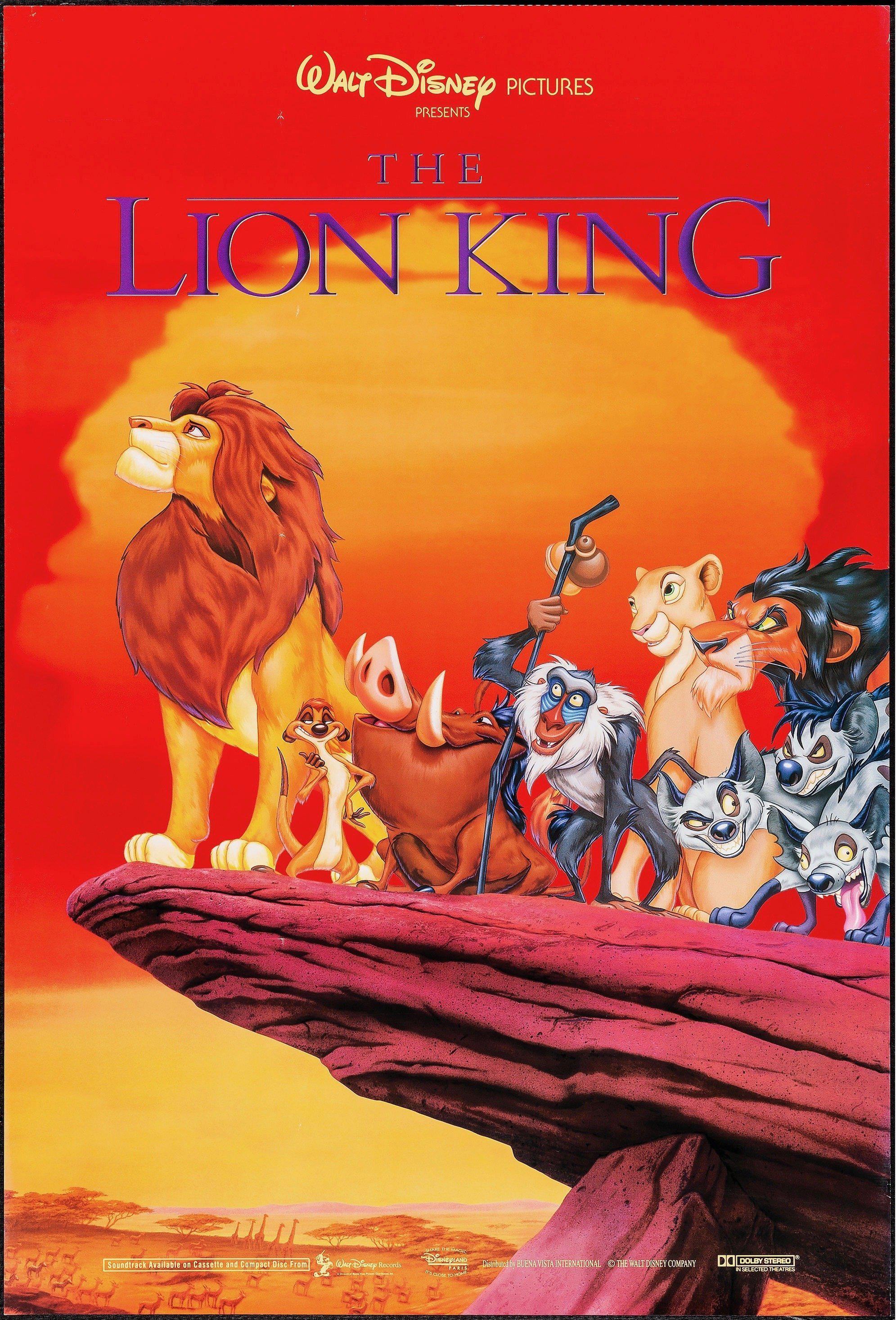 The Lion King 1 Sheet (27x41) Original Vintage Movie Poster