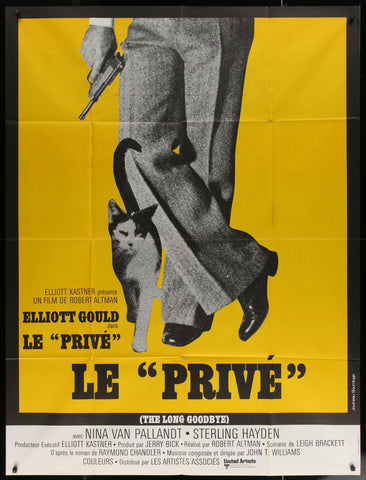 The Long Goodbye French 1 panel (47x63) Original Vintage Movie Poster