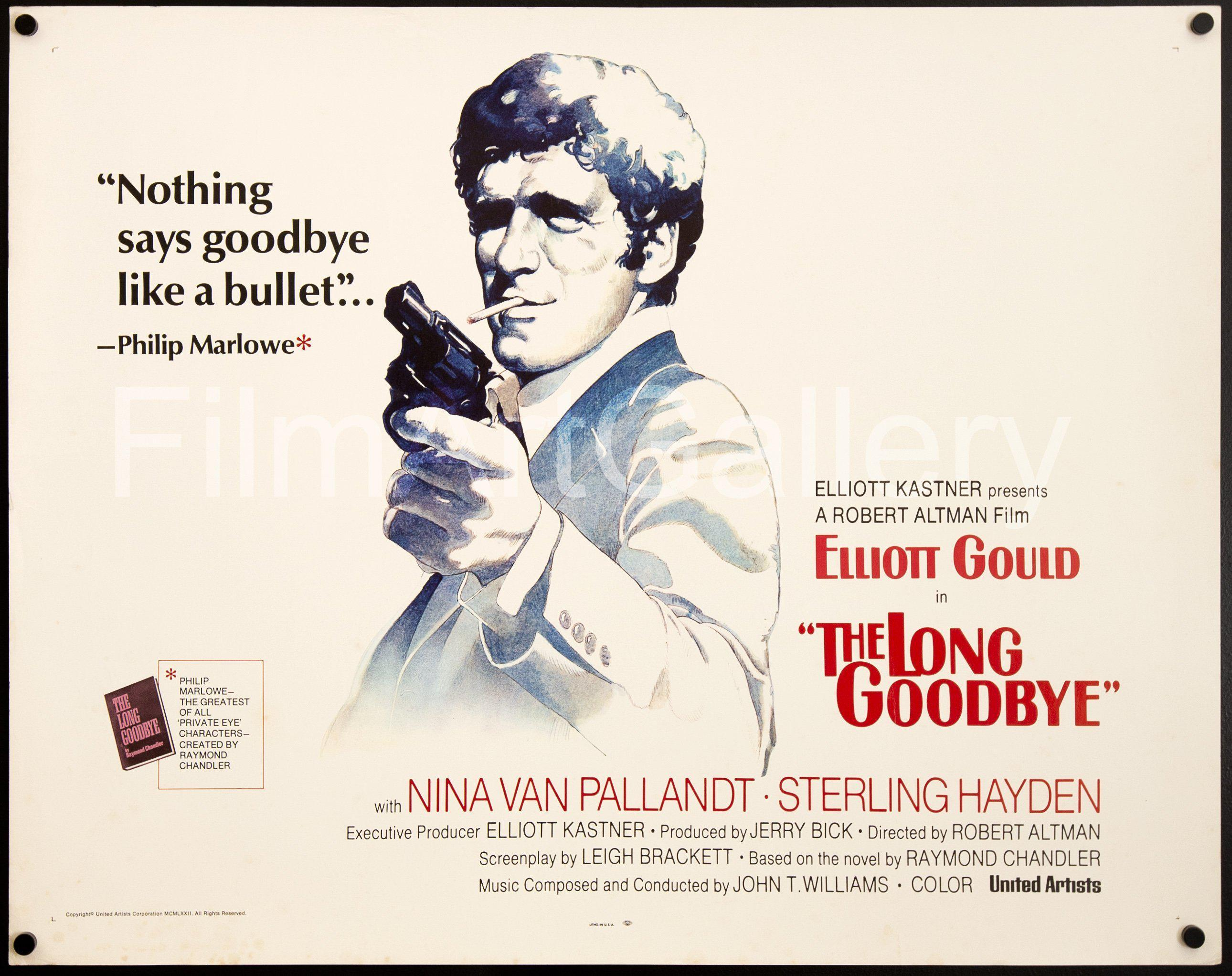 The Long Goodbye Half sheet (22x28) Original Vintage Movie Poster