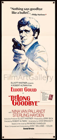 The Long Goodbye Insert (14x36) Original Vintage Movie Poster
