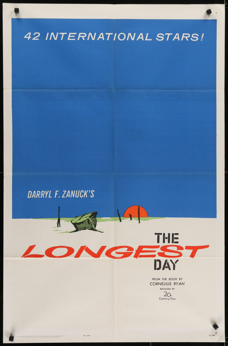 The Longest Day 1 Sheet (27x41) Original Vintage Movie Poster