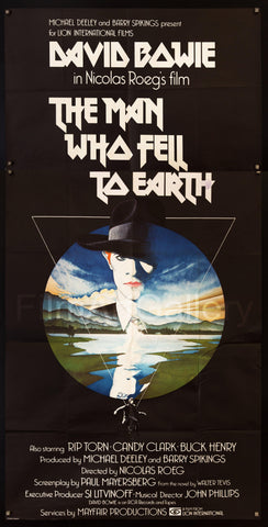 The Man Who Fell To Earth 3 Sheet (41x81) Original Vintage Movie Poster