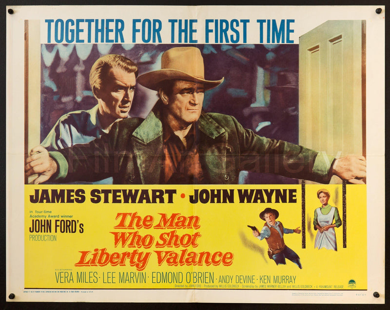 The Man Who Shot Liberty Valance Half Sheet (22x28) Original Vintage Movie Poster