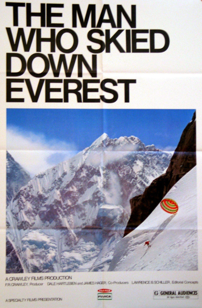 The Man Who Skied Down Everest 1 Sheet (27x41) Original Vintage Movie Poster