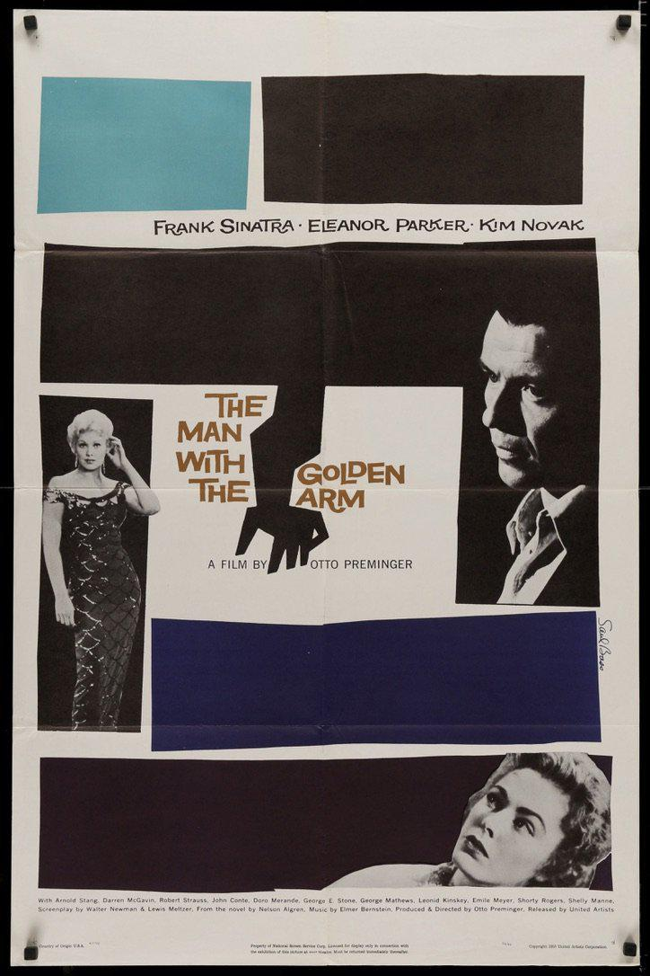 The Man With the Golden Arm 1 Sheet (27x41) Original Vintage Movie Poster