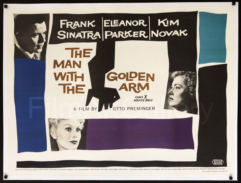 The Man With the Golden Arm British Quad (30x40) Original Vintage Movie Poster