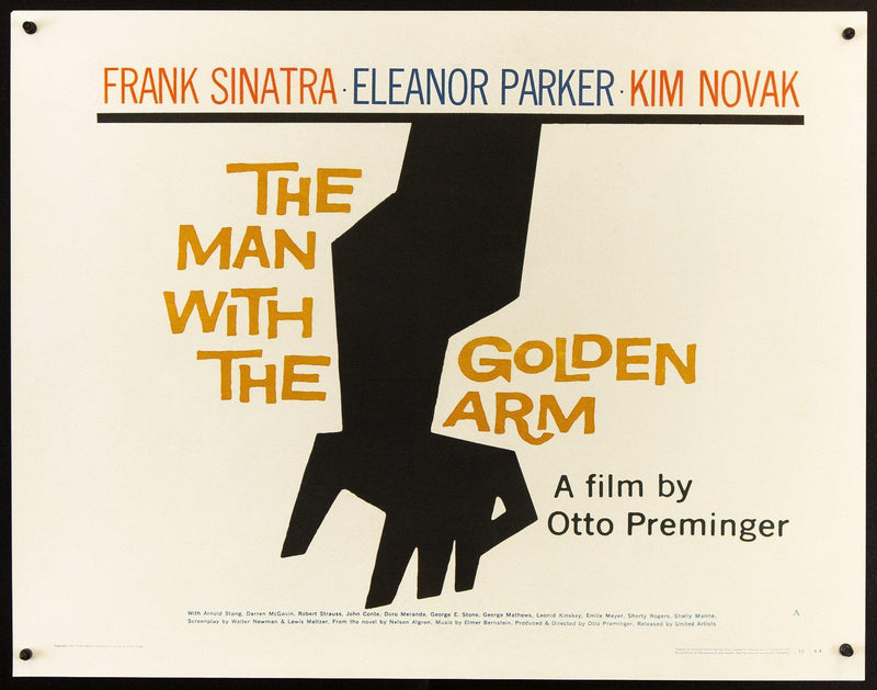 The Man With the Golden Arm Half sheet (22x28) Original Vintage Movie Poster