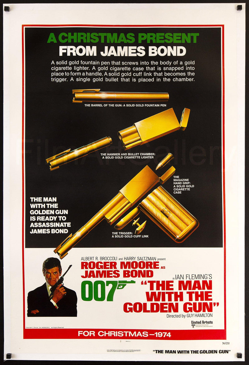 The Man With the Golden Gun 1 Sheet (27x41) Original Vintage Movie Poster
