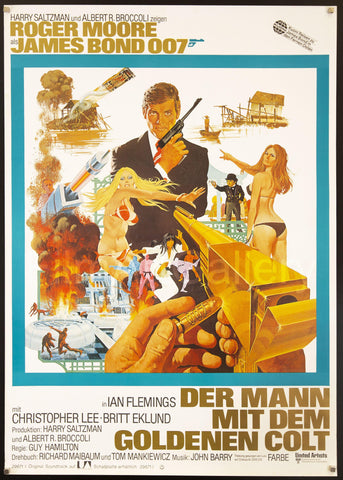 The Man With the Golden Gun German A0 (33x46) Original Vintage Movie Poster