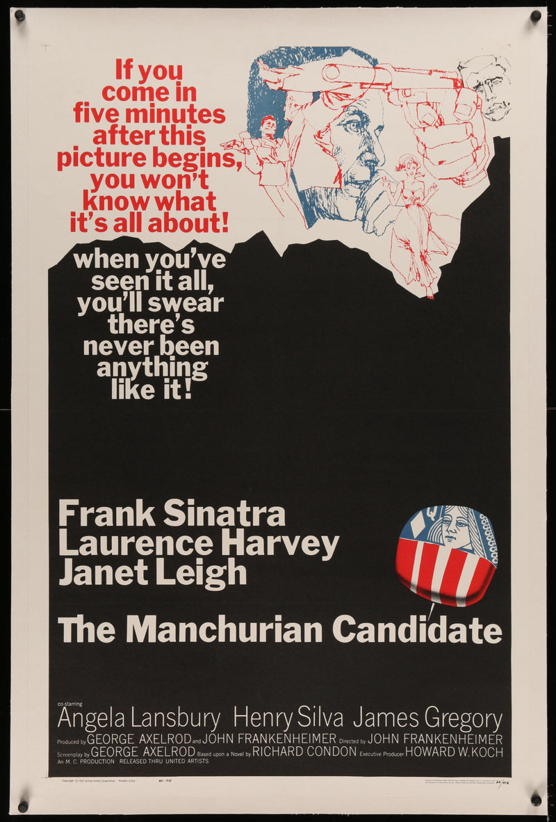 The Manchurian Candidate 1 Sheet (27x41) Original Vintage Movie Poster