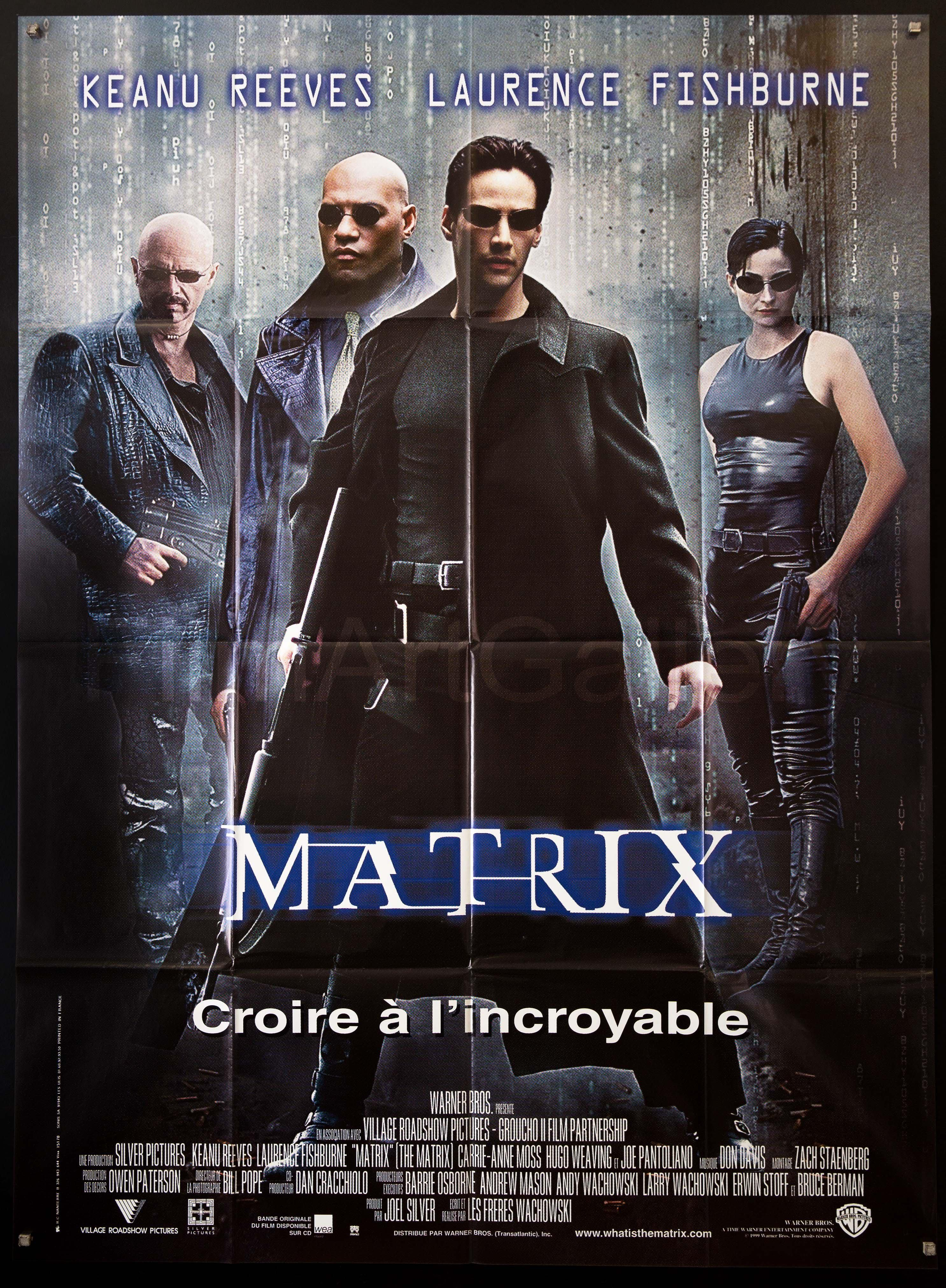 The Matrix Vintage Movie Poster | French 1 panel (47x63 ...