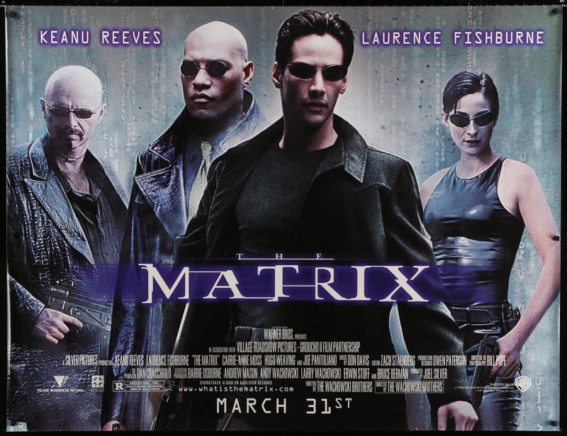 The Matrix Subway 2 sheet (45x59) Original Vintage Movie Poster