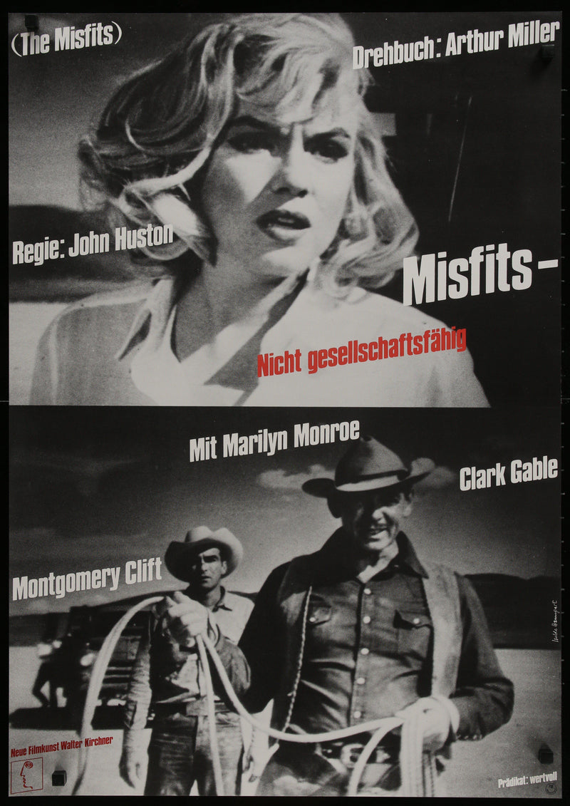 The Misfits German A1 (23x33) Original Vintage Movie Poster