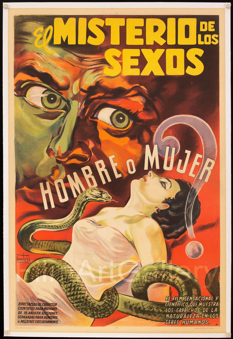 The Mystery of the Sexes (El Misterio De Los Sexos) 1 Sheet (27x41) Original Vintage Movie Poster