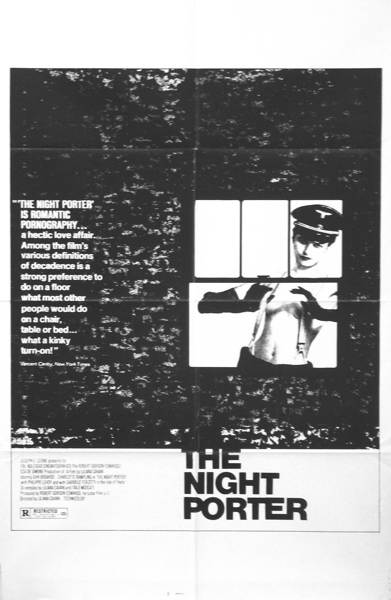 The Night Porter 1 Sheet (27x41) Original Vintage Movie Poster
