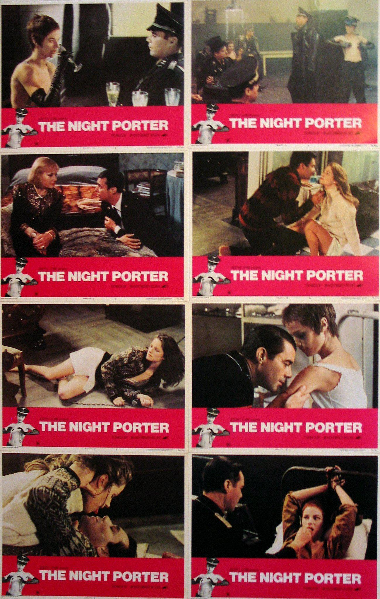 The Night Porter Lobby Card Set (8-11x14) Original Vintage Movie Poster