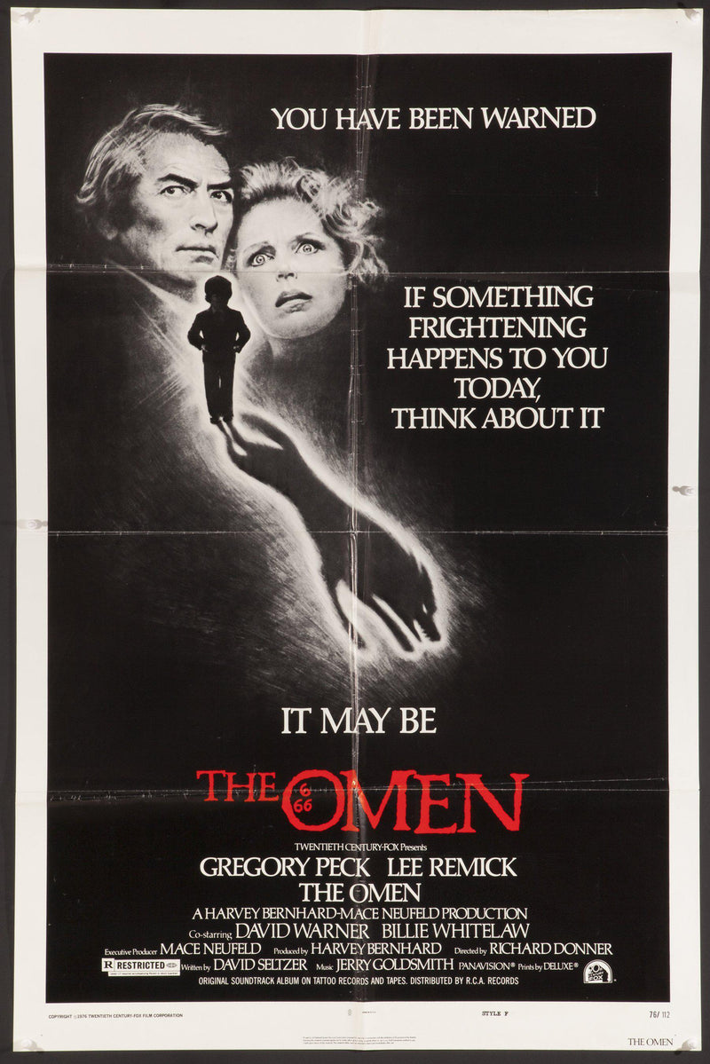 The Omen 1 Sheet (27x41) Original Vintage Movie Poster