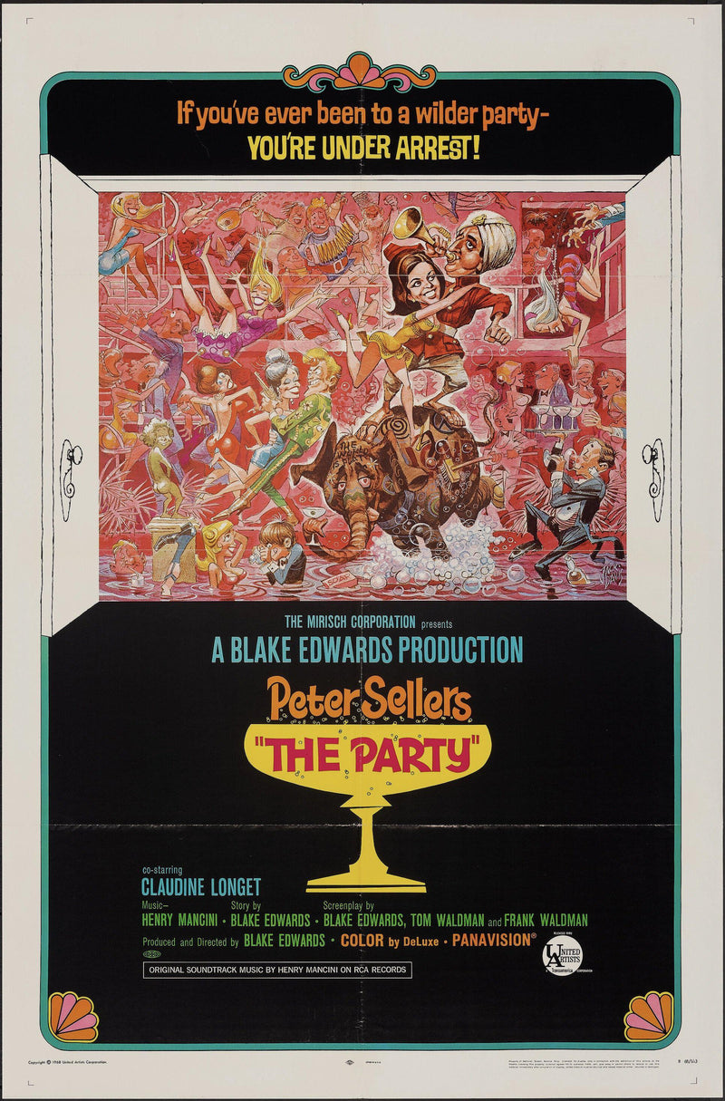 The Party 1 Sheet (27x41) Original Vintage Movie Poster