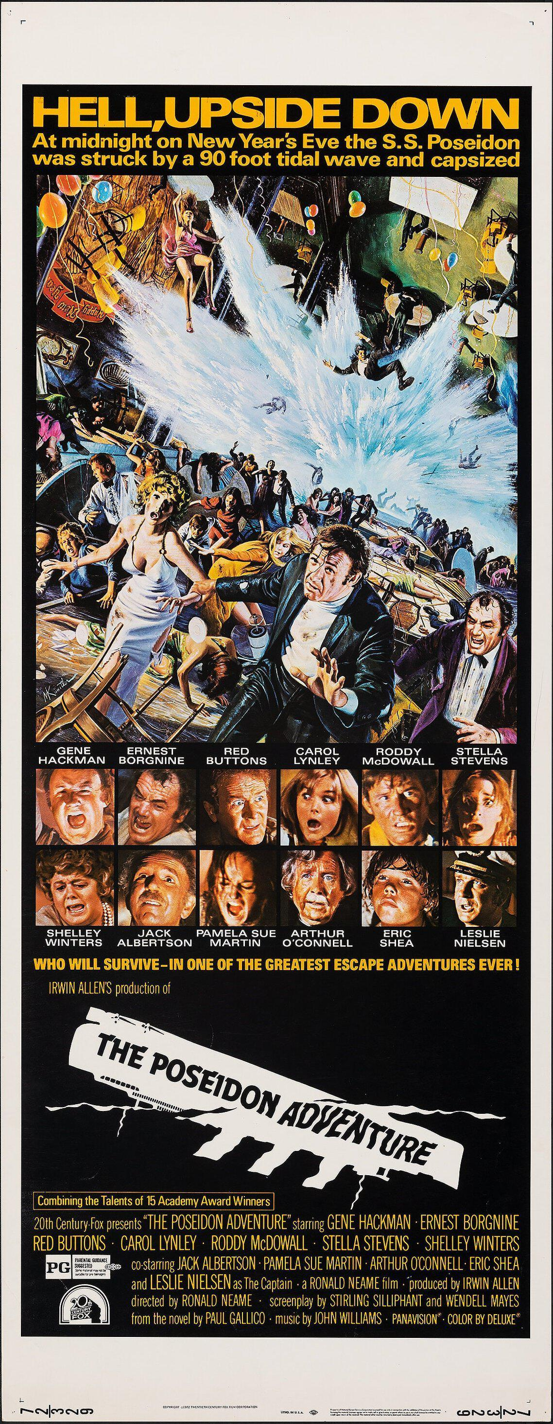 The Poseidon Adventure Insert (14x36) Original Vintage Movie Poster