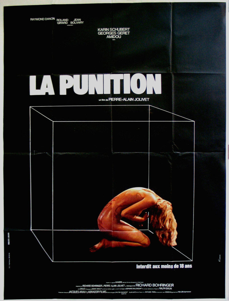 The Punishment (La Punition) French 1 panel (47x63) Original Vintage Movie Poster