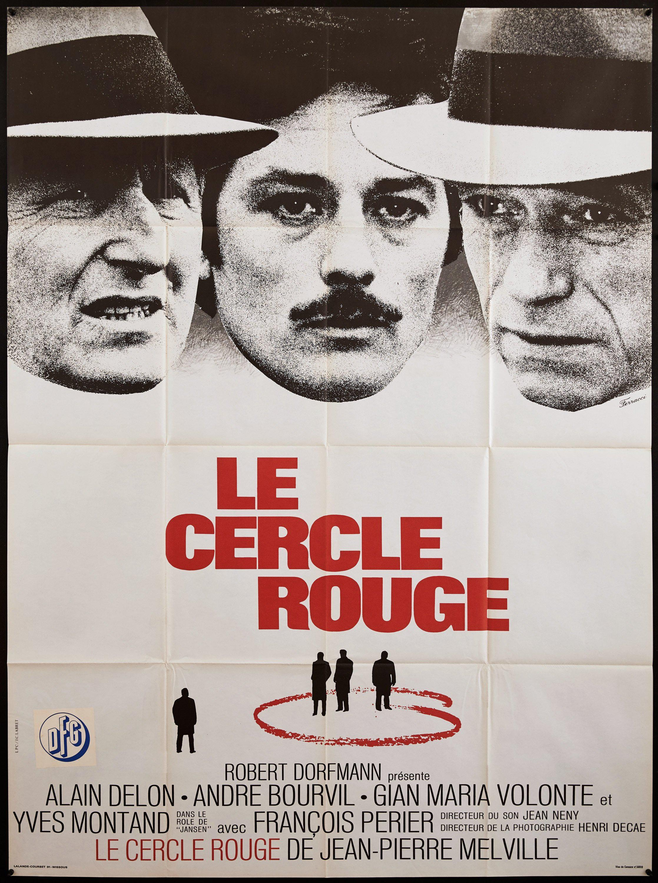 The Red Circle (Le Cercle Rouge) French 1 panel (47x63) Original Vintage Movie Poster