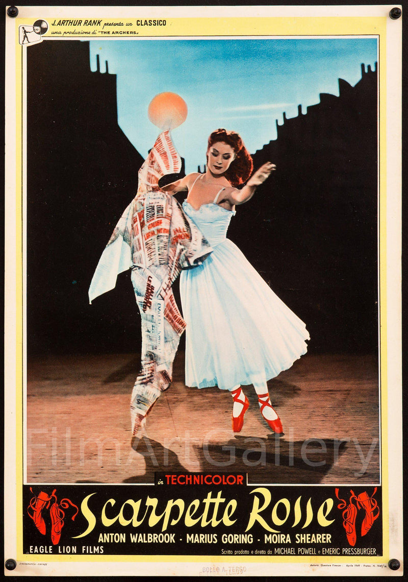 The Red Shoes (Scarpette Rosse) 13.5x19 Original Vintage Movie Poster