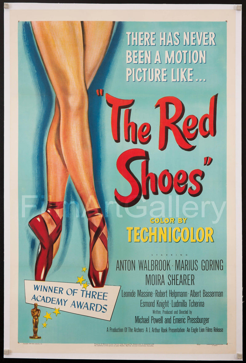 The Red Shoes 1 Sheet (27x41) Original Vintage Movie Poster