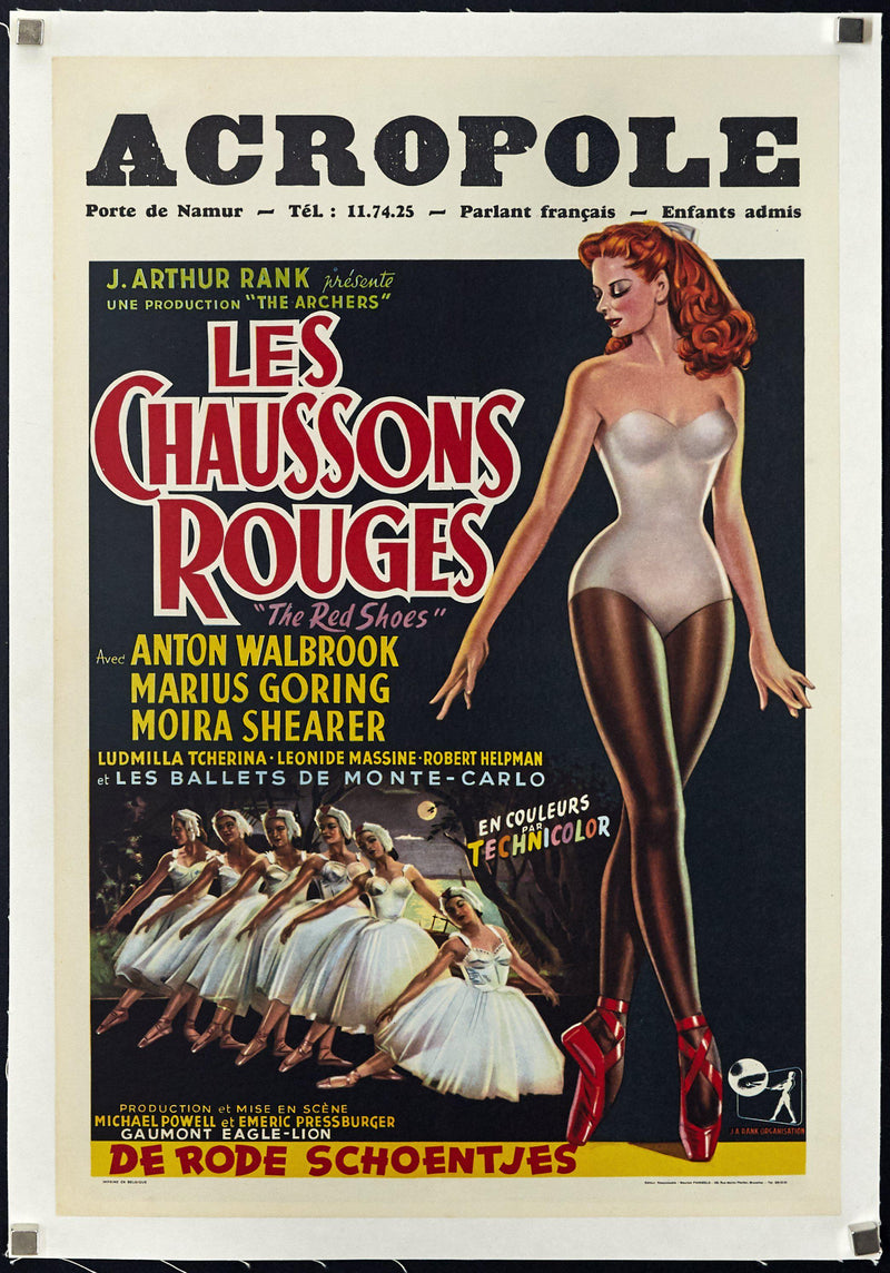 The Red Shoes Belgian (14x22) Original Vintage Movie Poster