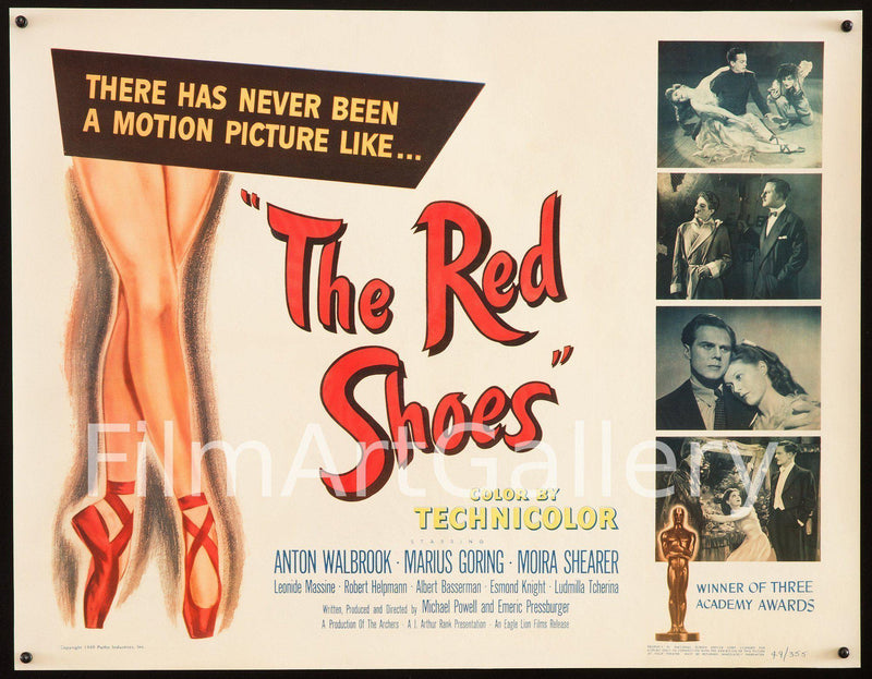 The Red Shoes Half Sheet (22x28) Original Vintage Movie Poster