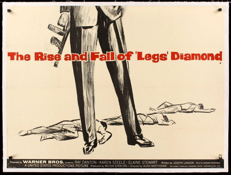 The Rise and Fall of Legs Diamond British Quad (30x40) Original Vintage Movie Poster