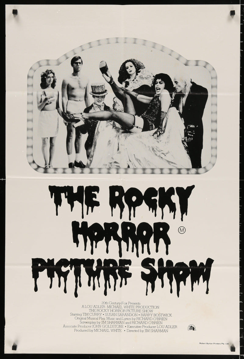 The Rocky Horror Picture Show 1 Sheet (27x41) Original Vintage Movie Poster