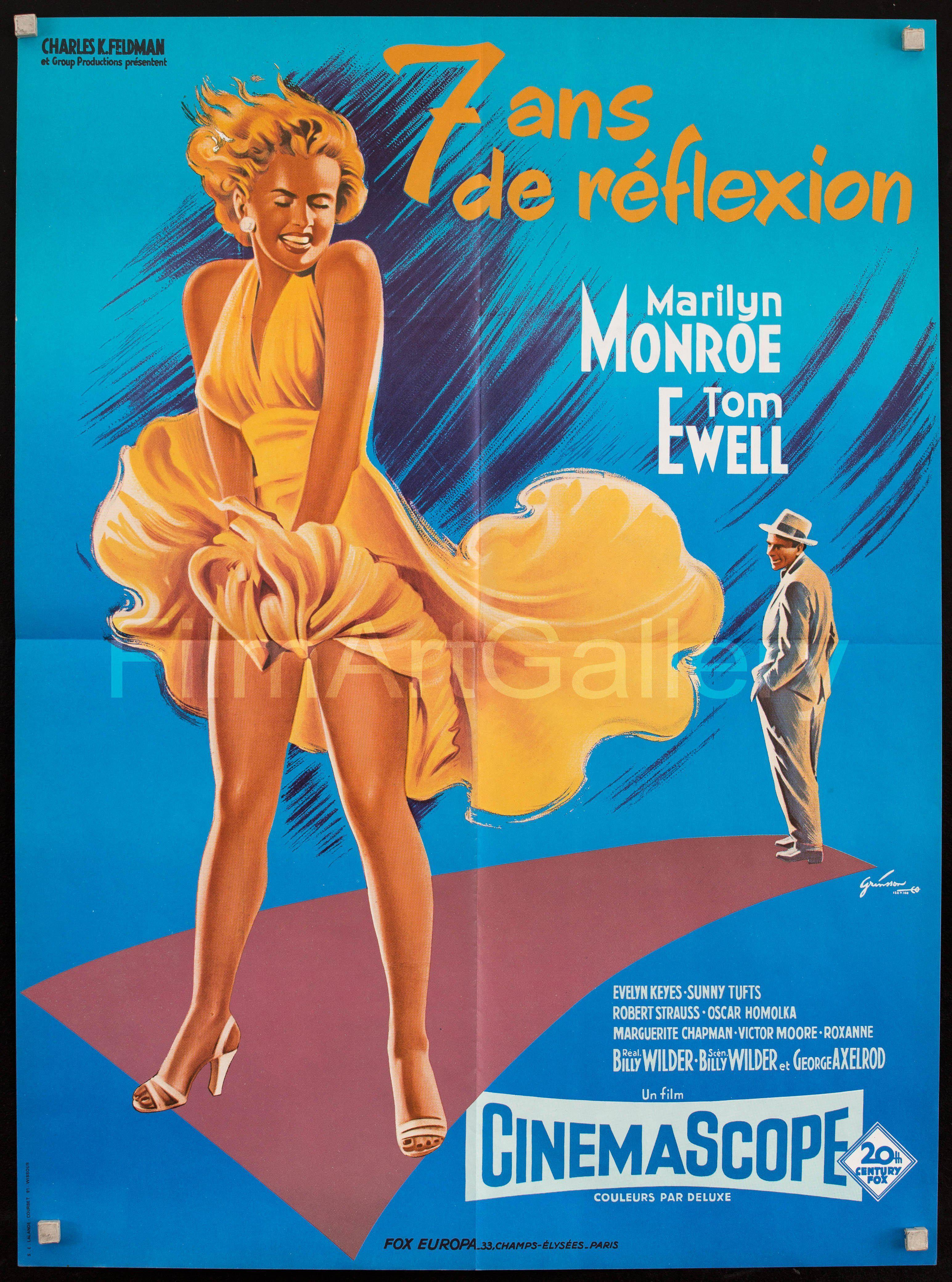 The Seven Year Itch French small (23x32) Original Vintage Movie Poster