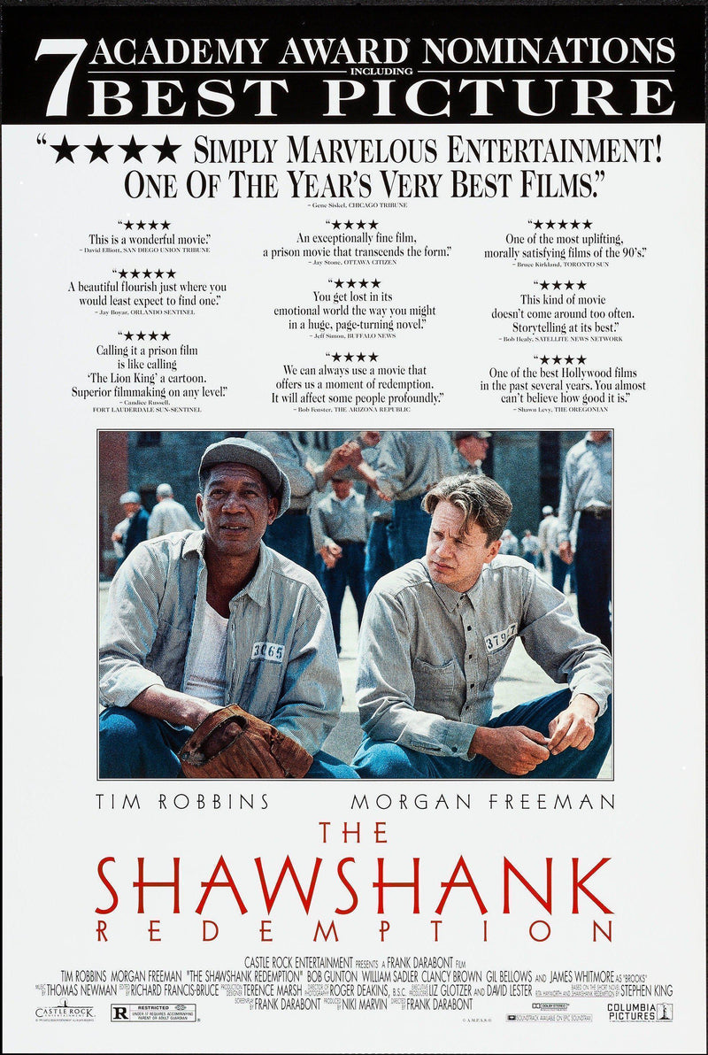 The Shawshank Redemption 1 Sheet (27x41) Original Vintage Movie Poster
