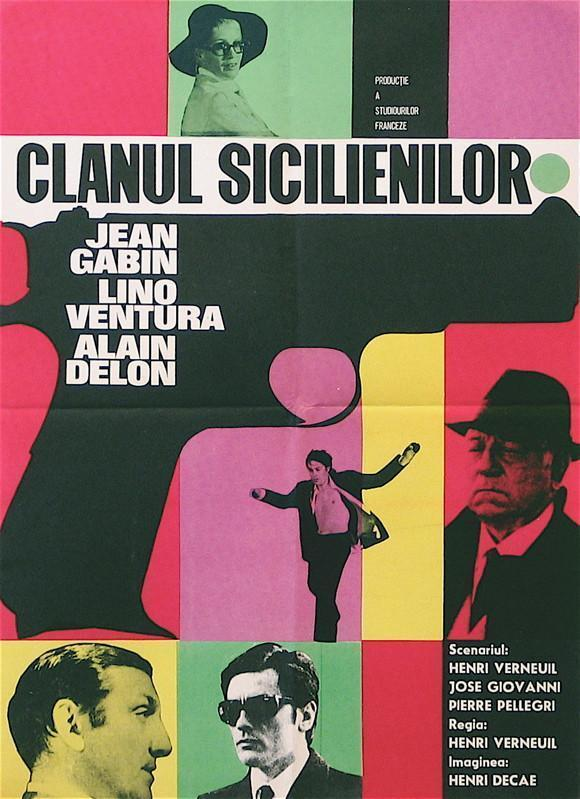 The Sicilian Clan (Le Clan Des Siciliens) 18x26 Original Vintage Movie Poster