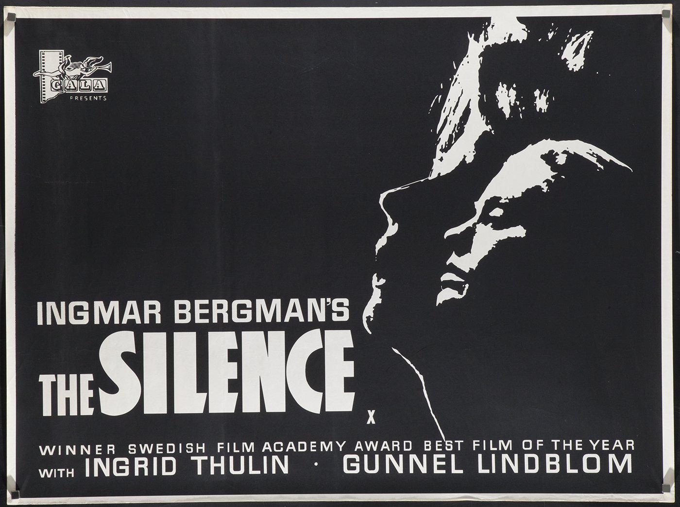 The Silence British Quad (30x40) Original Vintage Movie Poster