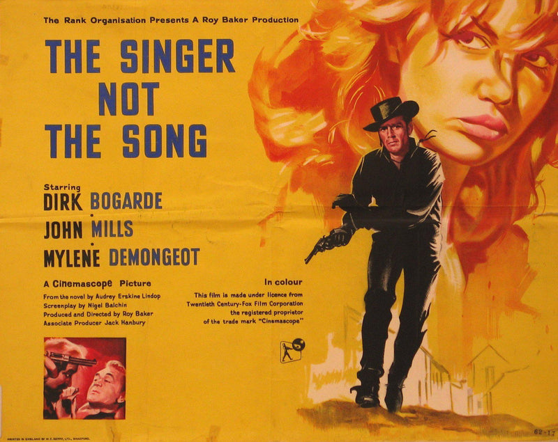 The Singer Not The Song Half sheet (22x28) Original Vintage Movie Poster
