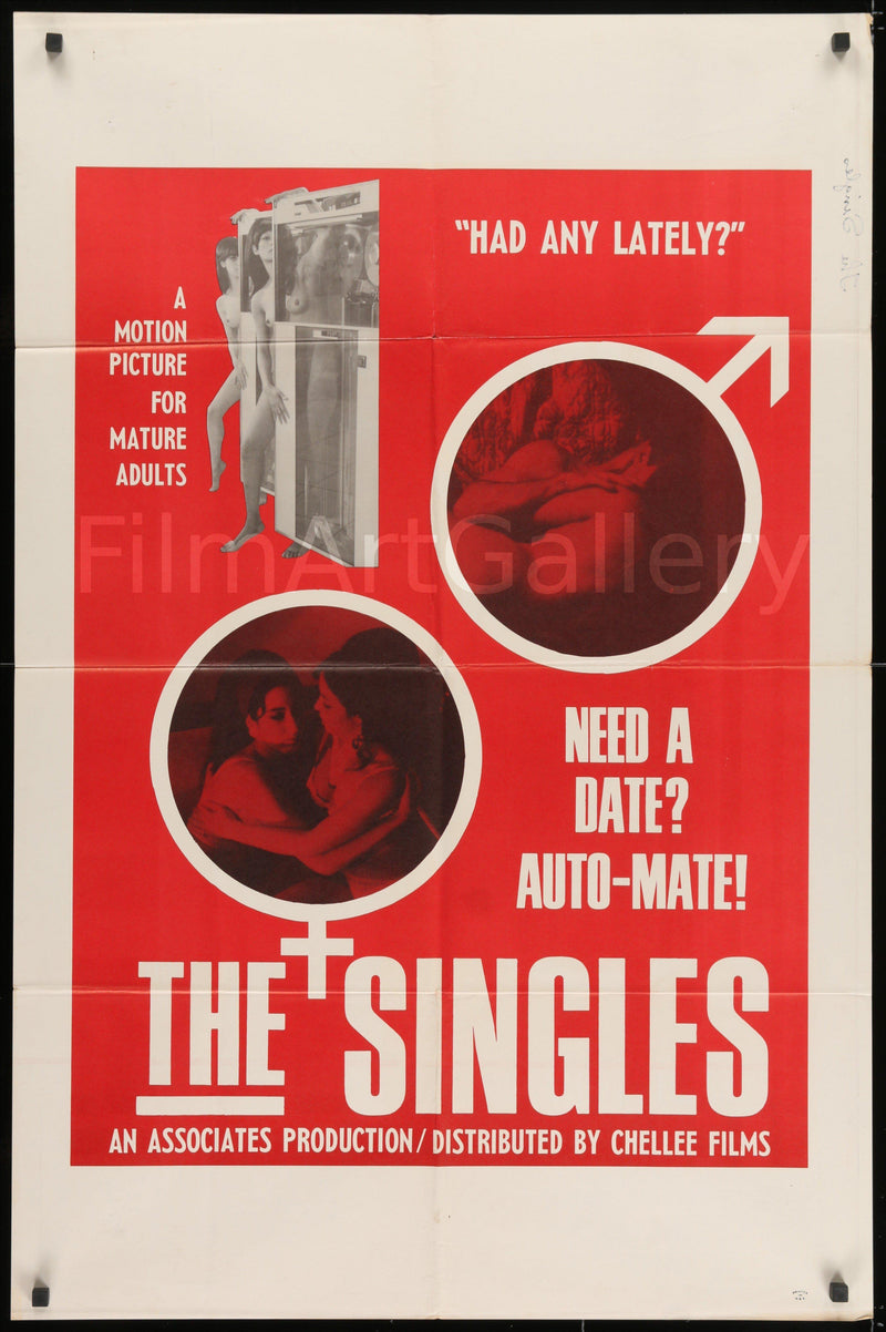 The Singles 1 Sheet (27x41) Original Vintage Movie Poster