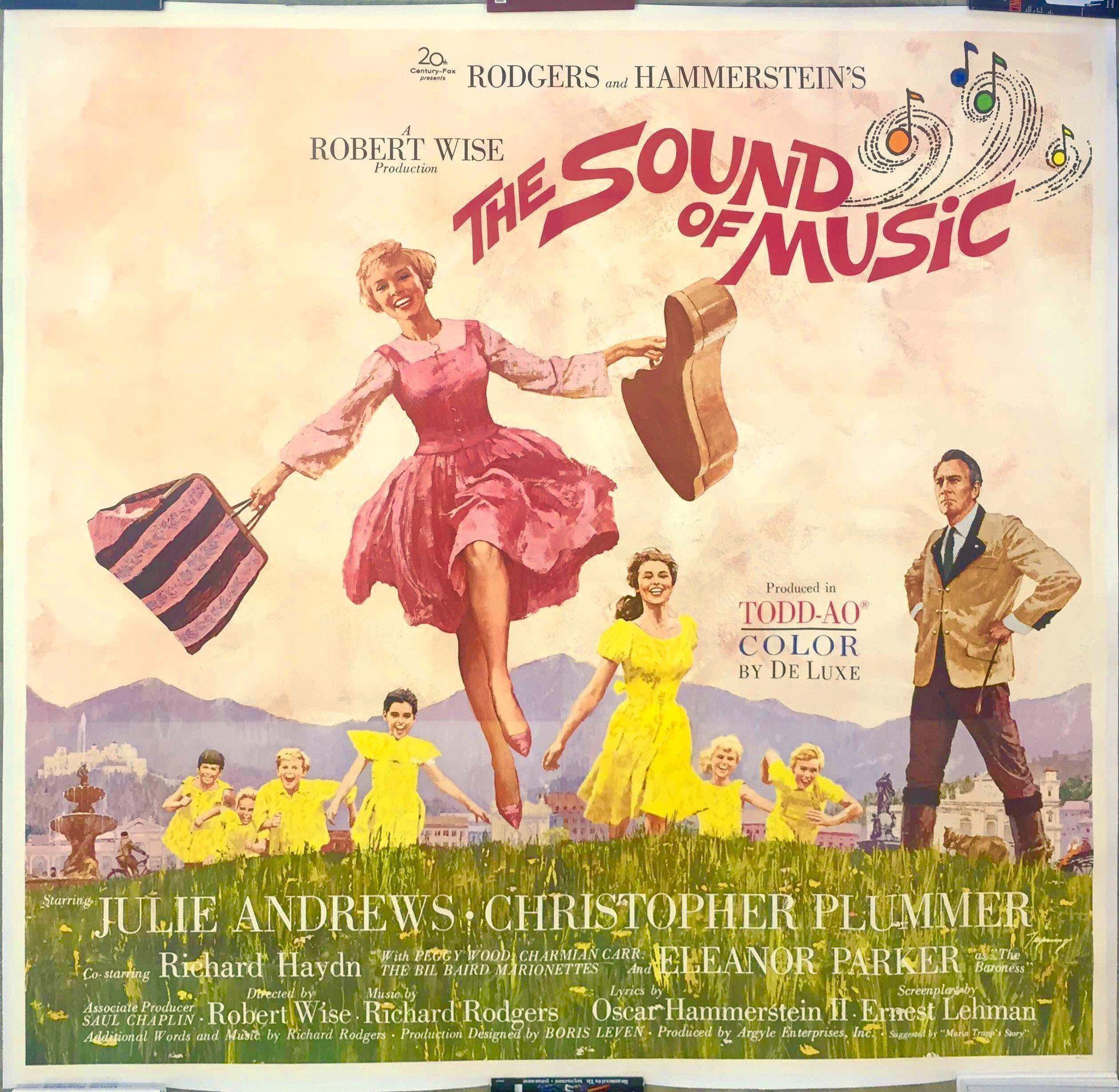 the sound of music vintage movie poster 6 sheet 81x81