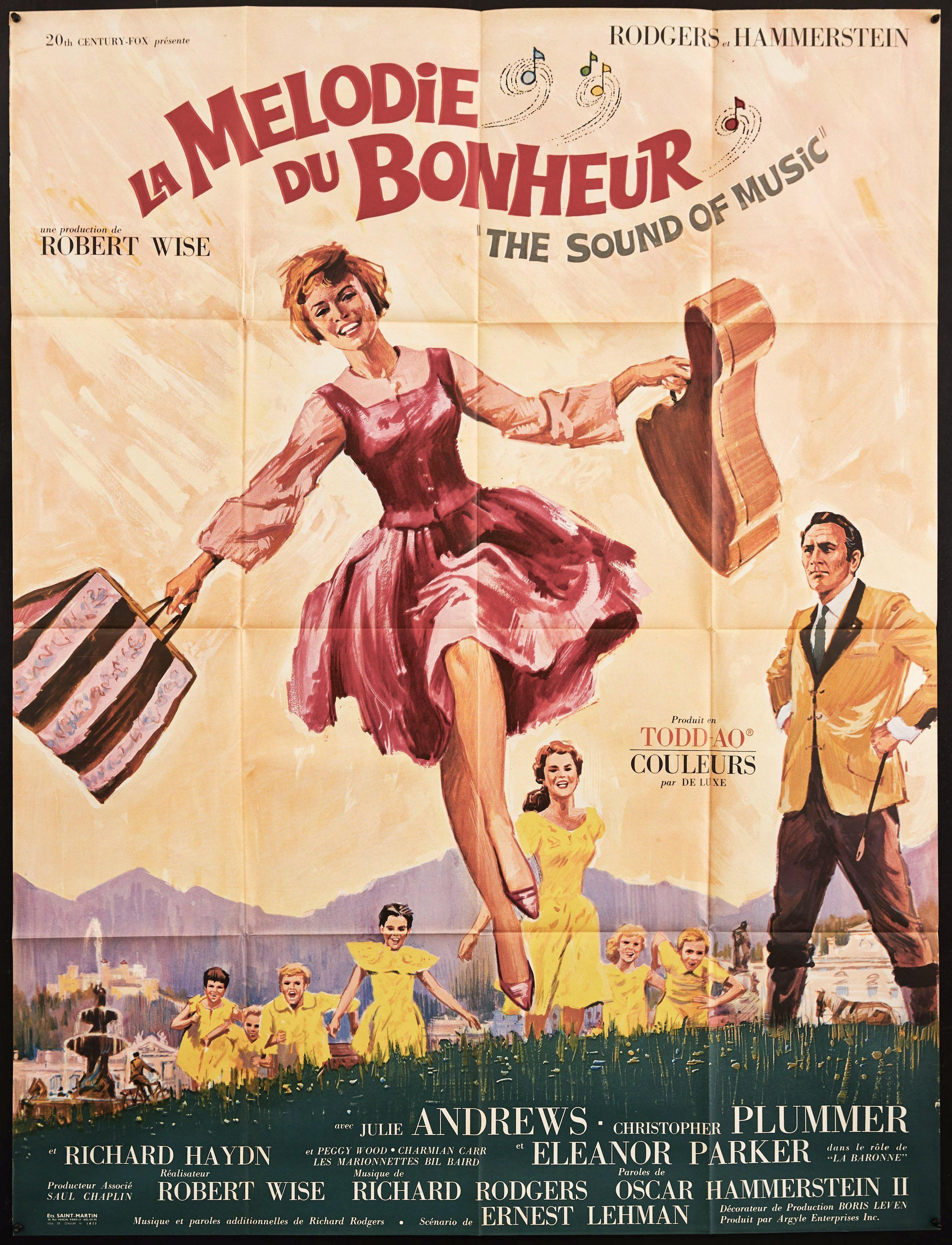 The Sound of Music French 1 panel (47x63) Original Vintage Movie Poster