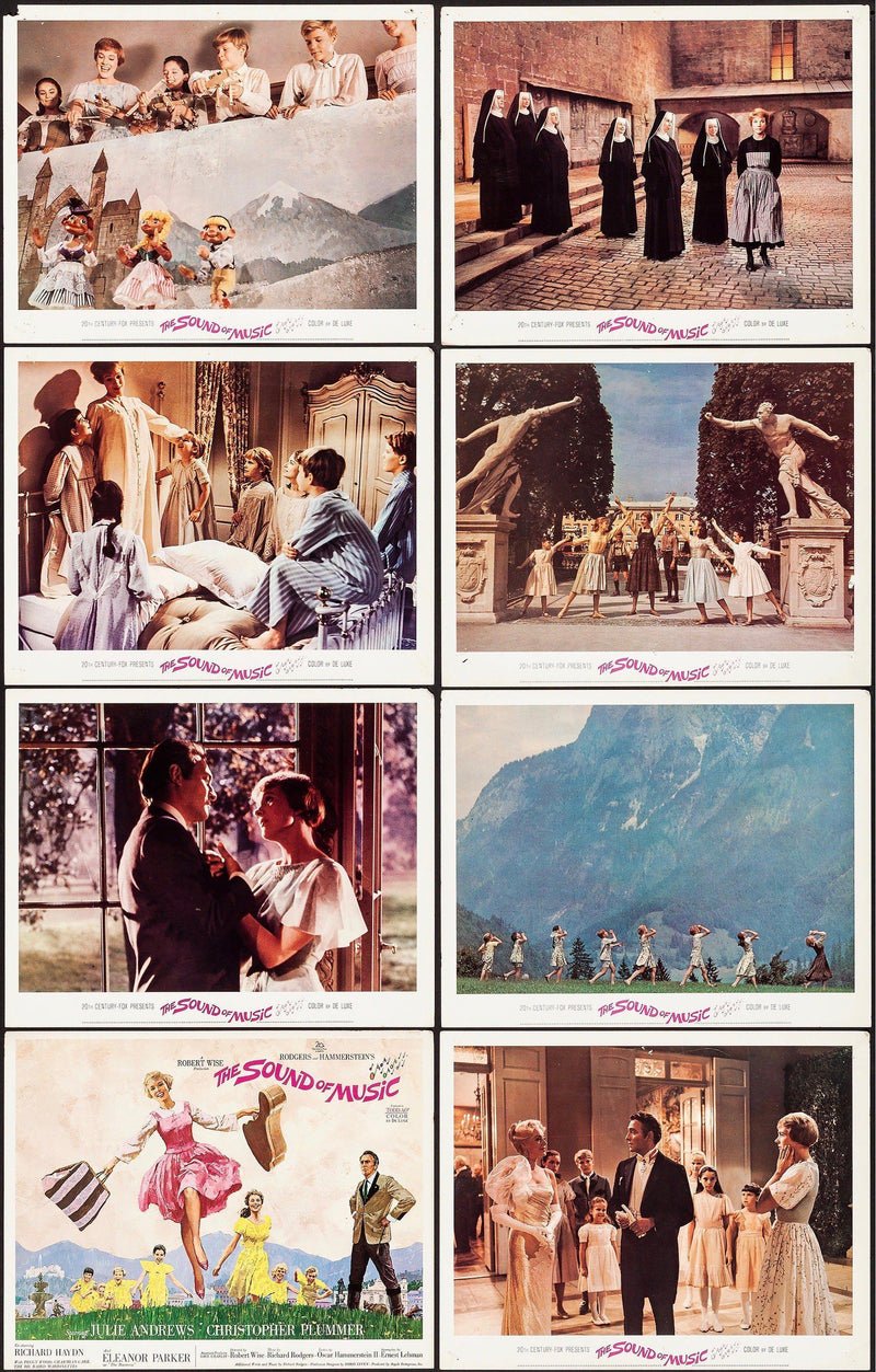 The Sound of Music Lobby Card Set (8-11x14) Original Vintage Movie Poster