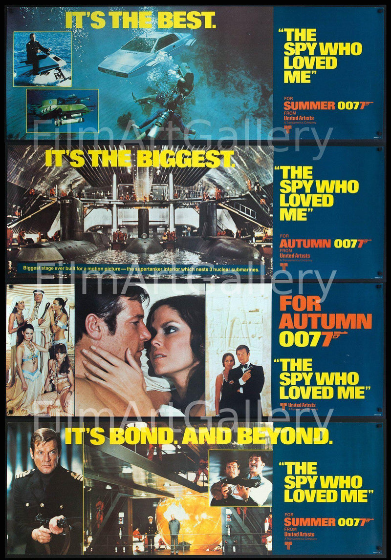 The Spy Who Loved Me 21 x 59 Original Vintage Movie Poster